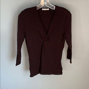 Lillie Rubin Ladies Brown Blouse